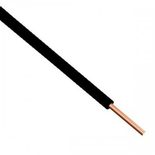 Καλώδιο τηλεφώνου μονοπολικό 1Χ0.8mm² Μαύρο