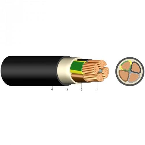 Καλώδιο NYY (E1VV-R) 4X10mm² Μαύρο