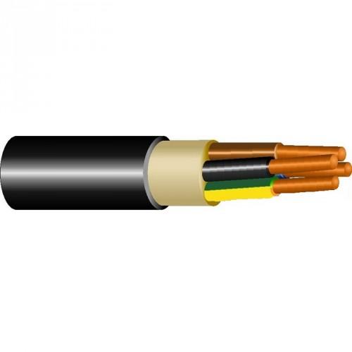 Καλώδιο NYY (E1VV-R) 3X10+1.5mm² Μαύρο