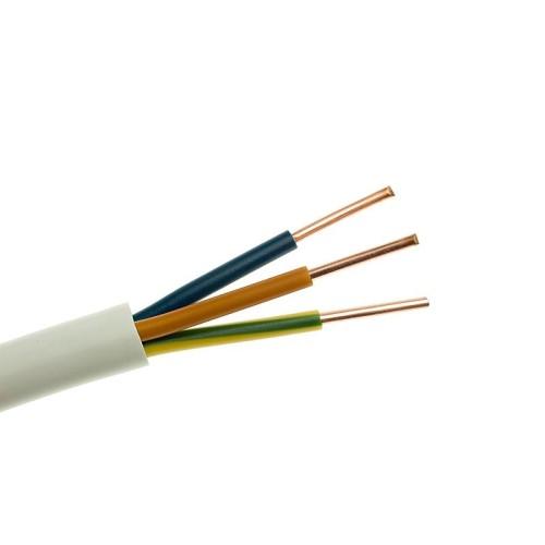 Καλώδιο NYM (A05VV-R) 3X10+1.5mm² Λευκό