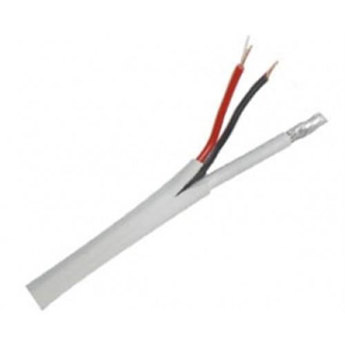 Καλώδιο ομοαξονικό RG59+2X0.50mm² Λευκό