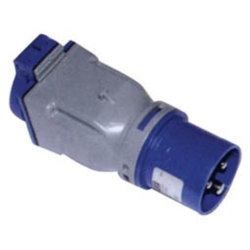 Αντάπτορ βιομηχανικό αρσενικό 3P 16A - πρίζα 16Α IP44 PCE 9433100