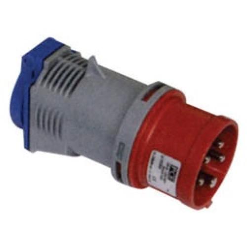 Αντάπτορ βιομηχανικό αρσενικό 5P 16A - πρίζα 16Α IP44 PCE 9433020