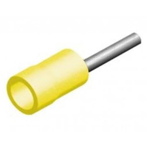 Ακρόδεκτης ακίδος με μόνωση κίτρινη 6mm²