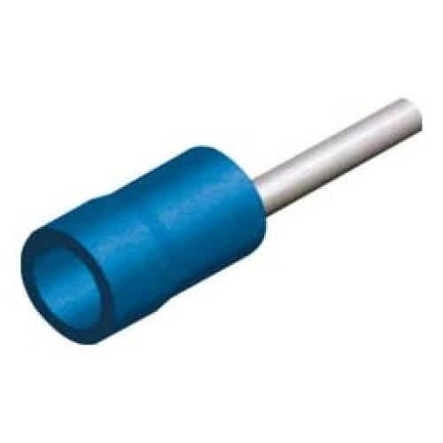 Ακρόδεκτης ακίδος με μόνωση μπλε 2,5mm²