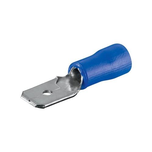 Ακροδέκτης αρσενικός συρταρωτός με μόνωση μπλε 2,5Χ4,8