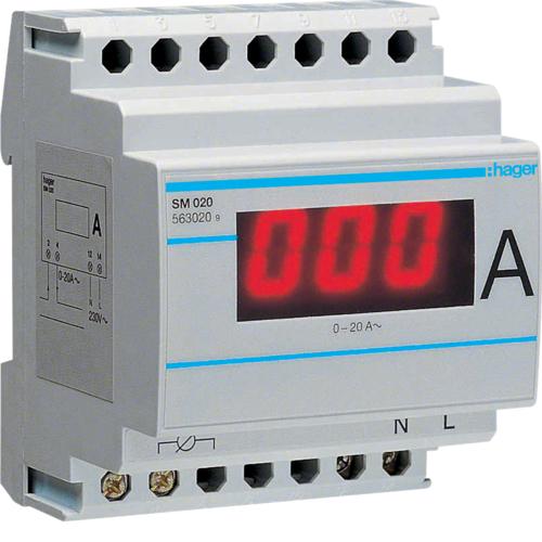 Αμπερόμετρο ψηφιακό άμεσης μέτρησης 0-20Α SM020