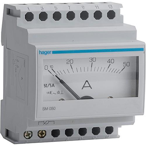 Αμπερόμετρο αναλογικό με μέτρηση μεσω μετ/στή εντάσεως 0-1000Α SM850
