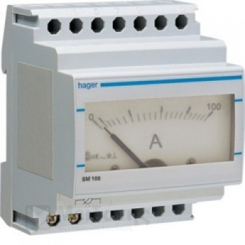 Αμπερόμετρο αναλογικό με μέτρηση μεσω μετ/στή εντάσεως 0-100Α SM100
