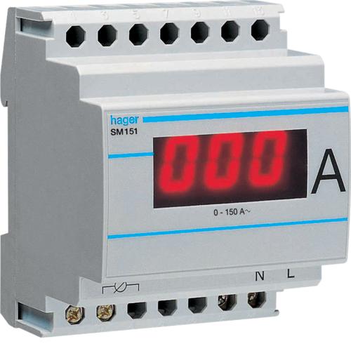 Αμπερόμετρο ψηφιακό με μέτρηση μεσω μετ/στή εντάσεως 0-1500Α SM901