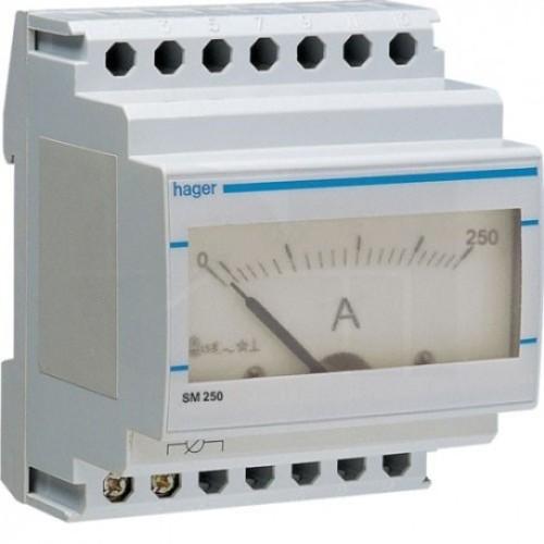 Αμπερόμετρο αναλογικό με μέτρηση μεσω μετ/στή εντάσεως 0-250Α SM250