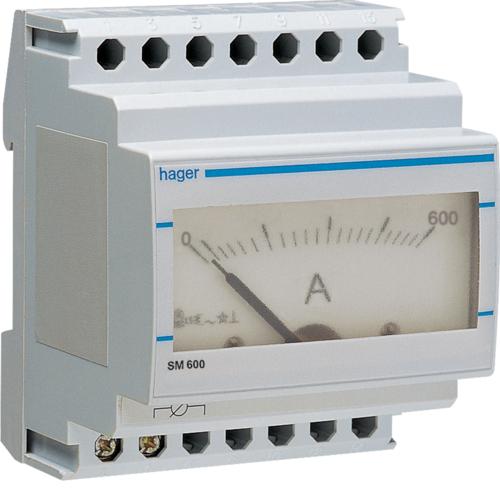 Αμπερόμετρο αναλογικό με μέτρηση μεσω μετ/στή εντάσεως 0-600Α SM600