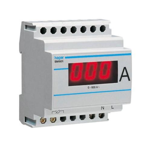 Αμπερόμετρο ψηφιακό με μέτρηση μεσω μετ/στή εντάσεως 0-600Α SM601