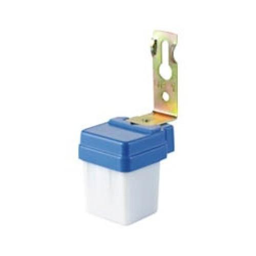 Διακόπτης λυκόφωτος επίτοιχος 6A/230VAC λευκός μπλε YCC1004 SLX