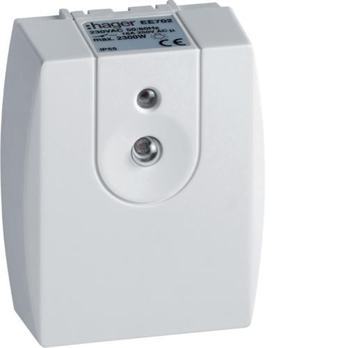 Διακόπτης λυκόφωτος επίτοιχος IP55 compact 16A ρυθμιζόμενος EE702