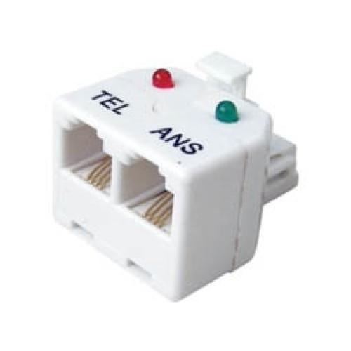 Τηλεφωνικό adaptor αρσενικό/θηλυκό 6P4C X2 (TEL/ANS) SS336 SHU