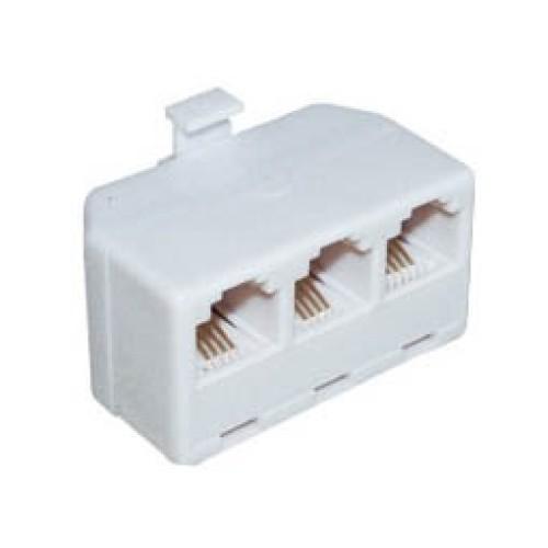 Τηλεφωνικό adaptor αρσενικό/θηλυκό 6P4C X3 T201-04 (304) COMP