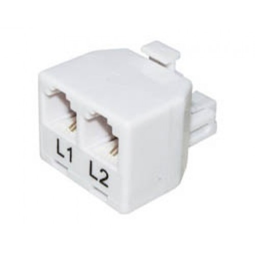 Τηλεφωνικό adaptor αρσενικό/τηλεφωνικές γραμμές 6P2C X2 T201-02 (303) LNC