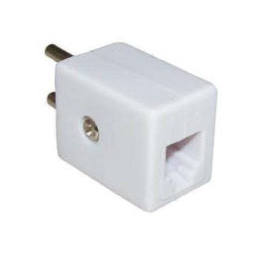 Τηλεφωνικό adaptor θηλυκό 6P2C τετράγωνο T205-62 (323B) LZ