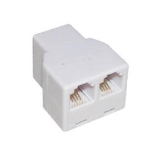 Τηλεφωνικό adaptor θηλυκό/θηλυκό 6P4C X2 T201-03 LNC