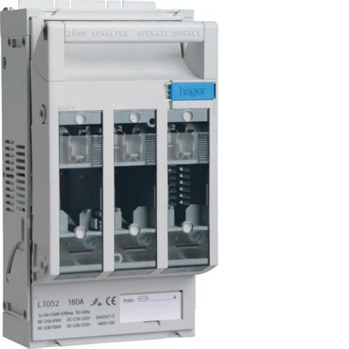 Ασφαλειοαποζεύκτης φορτίου 160Α φυσίγγι HPC 00 compact LT052