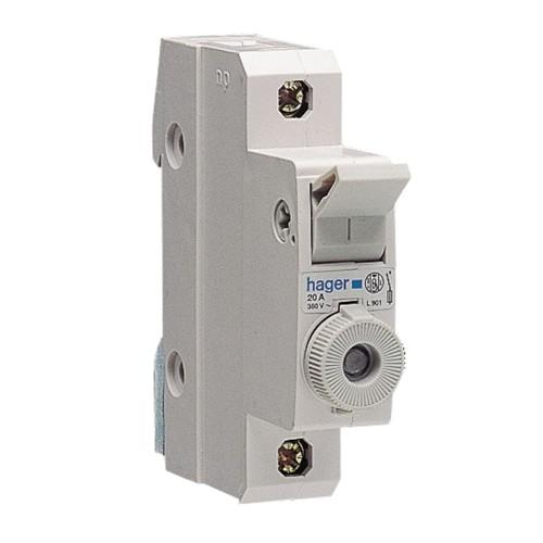 Ασφαλειοθήκη κυλινδρικής ασφάλειας 10X38 1P 2-20A L951