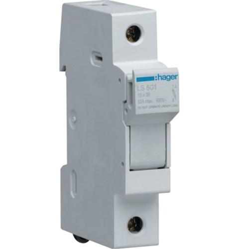 Ασφαλειοθήκη κυλινδρικής ασφάλειας 10X38 1P 2-32A LS501