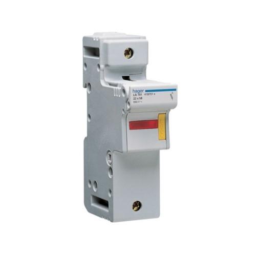 Ασφαλειοθήκη κυλινδρικής ασφάλειας 22X58 1P 16-125A LS701
