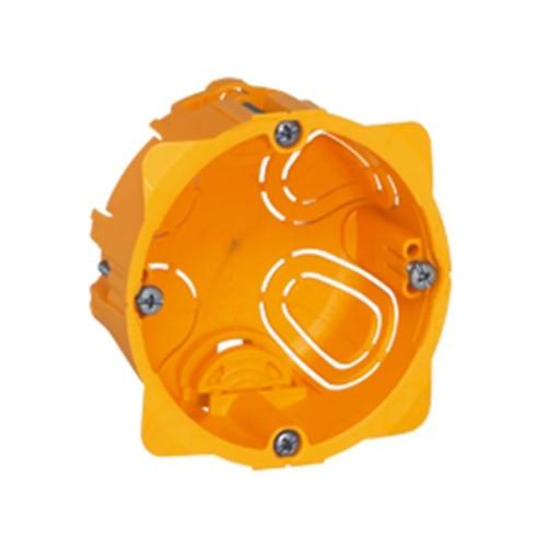 Κουτί χωνευτό batibox 71mmX71mmX40mm Κίτρινο