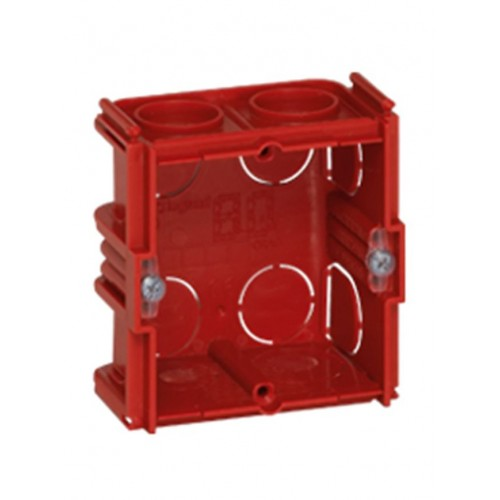Κουτί χωνευτό batibox 71mmX71mmX40mm Κόκκινο
