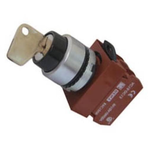 Διακόπτης Φ22 0-1 1NO με κλειδί μαύρος R2SNK CNTD