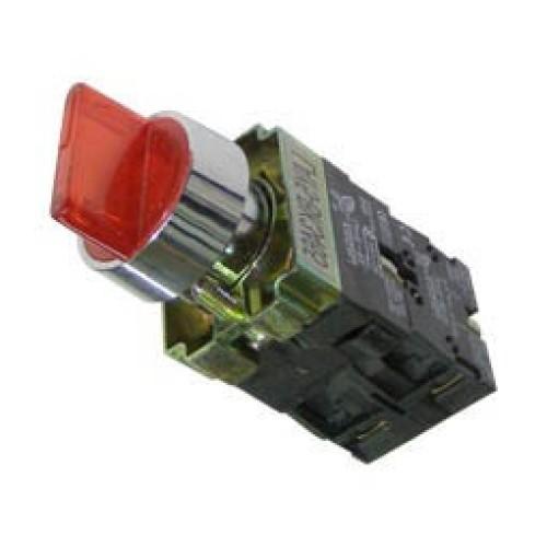 Διακόπτης Φ22 0-1 1NO+1NC με λυχνία κόκκινος BK2465 XND