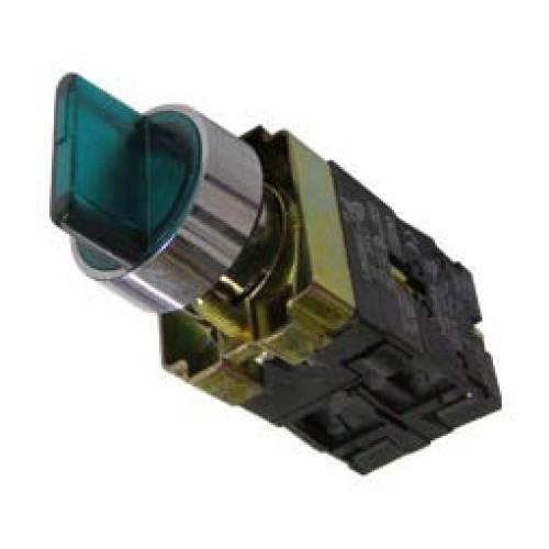 Διακόπτης Φ22 0-1 1NO+1NC με λυχνία πράσινος BK2365 XND