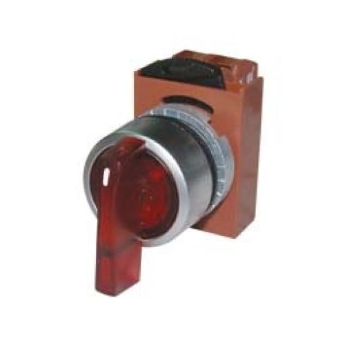 Διακόπτης Φ22 0-1 1NO με λυχνία κόκκινος 24VAC/DC R2SIL-R RNY