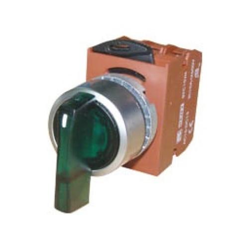 Διακόπτης Φ22 0-1 1NO με λυχνία πράσινος 24VAC/DC R2SIL-G CNTD