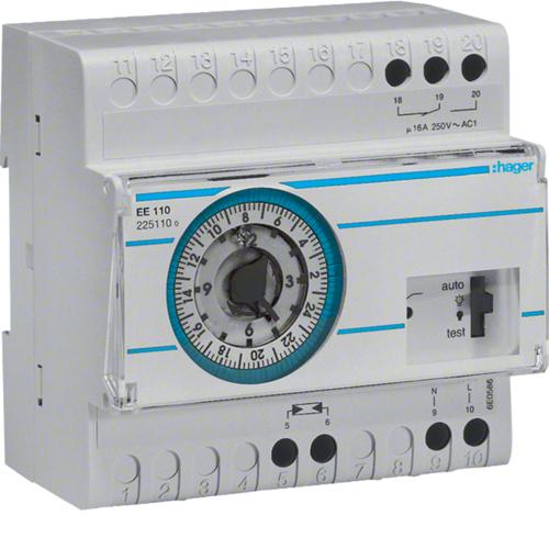 Διακόπτης λυκόφωτος ηλεκτρομηχανικός προγρ. 24 ωρών (με ΕΕ003) ΕΕ110