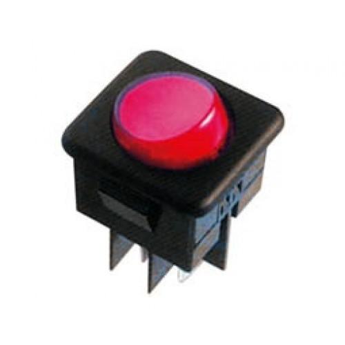 Διακόπτης κούνιας (ROCKER) μεγάλος με λυχνία ON-OFF 10A/250V 4P R13-104B κόκκινος (στρογγυλός) SCI