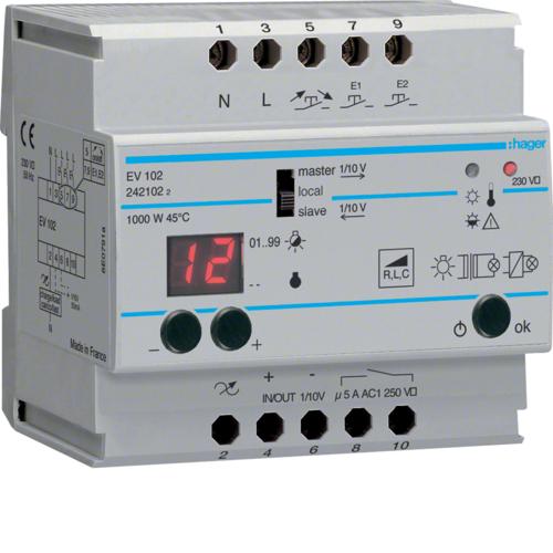 Ρυθμιστής φωτισμού 1000W πυράκτωση 12V ή 230V EV102