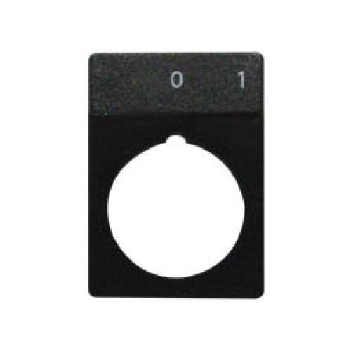 Εξάρτημα πλάκα ένδειξης 0-1 Φ22 RTP01 XND