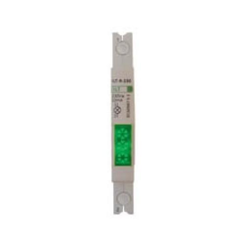 Ενδεικτική λυχνία ράγας με LED πράσινη slim ILT-R-230 GAC