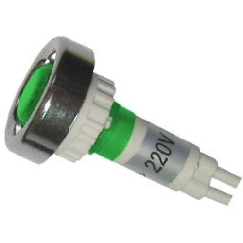 Ενδεικτική λυχνία βιδωτή Φ10 με καλώδιο 17cm+NEON πράσινη AD22E-006 XND