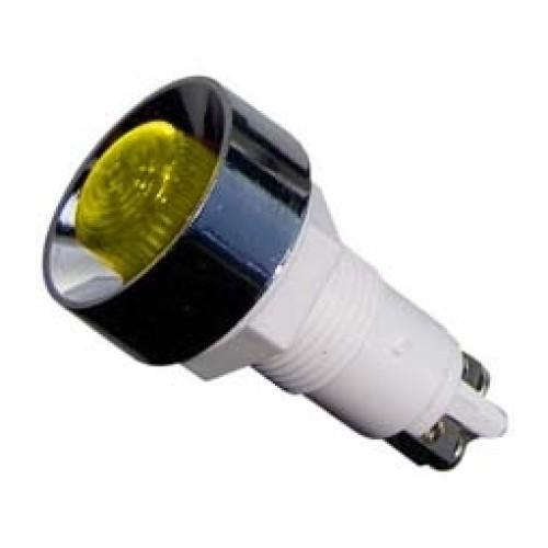 Ενδεικτική λυχνία βιδωτή Φ12 χωρίς καλώδιο κίτρινη 220V XH020 KZE