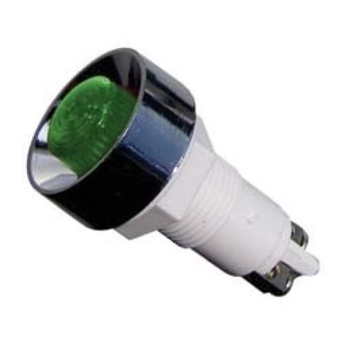 Ενδεικτική λυχνία βιδωτή Φ12 χωρίς καλώδιο πράσινη 220V XH020 KZE