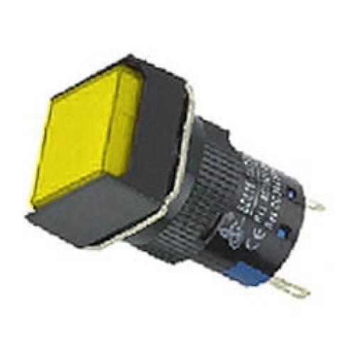 Ενδεικτική λυχνία βιδωτή Φ16 χωρίς καλώδιο + LED 220VAC/DC κίτρινη SDL16-FXD XND