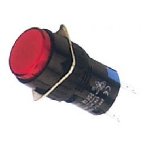 Ενδεικτική λυχνία βιδωτή Φ16 χωρίς καλώδιο + LED 220VAC/DC κόκκινη SDL16-AXD XND