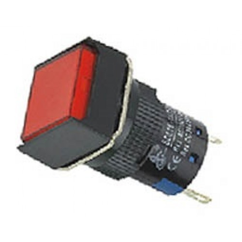 Ενδεικτική λυχνία βιδωτή Φ16 χωρίς καλώδιο + LED 220VAC/DC κόκκινη SDL16-FXD XND