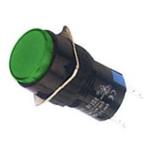 Ενδεικτική λυχνία βιδωτή Φ16 χωρίς καλώδιο + LED 220VAC/DC πράσινη SDL16-AXD XND
