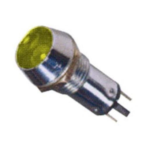Ενδεικτική λυχνία βιδωτή Φ10 χωρίς καλώδιο + LED 220VAC/DC κίτρινη AD22C-10T XND