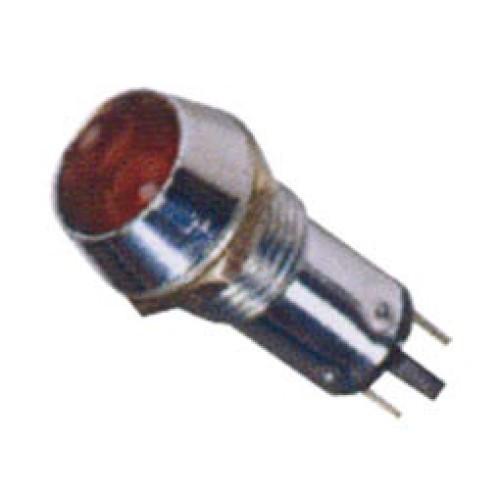 Ενδεικτική λυχνία βιδωτή Φ10 χωρίς καλώδιο + LED 220VAC/DC κόκκινη AD22C-10T XND