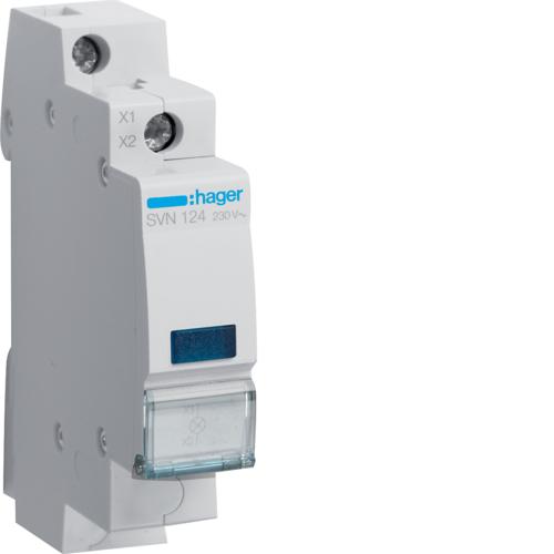Ενδεικτικό ράγας LED μπλε 230V SVN124